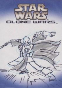 2004 Star Wars Clone Wars Sketch Card