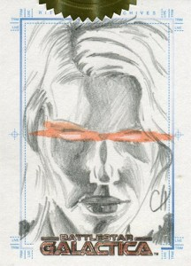2005 Battlestar Galactica Premiere Edition SketchFEX Chris Henderson