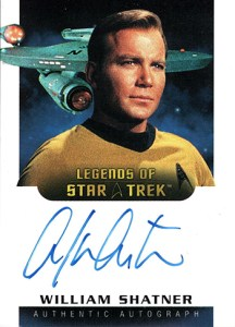 2005 Star Trek Art and Images Legends of Star Trek Autographs LA3 William Shatner