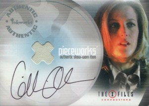 X-Files Connections Gillian Anderson Autographed Pieceworks