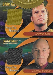 2006 Star Trek 40th Anniversary Costume Cards DC1 Kirk Picard