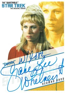 2006 Star Trek TOS 40th Anniversary Autographs QA8 Grace Lee Whitney