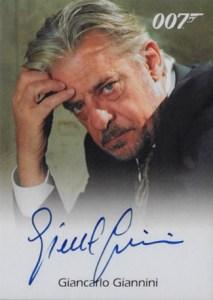 2008 James Bond In Motion Autographs Giancarlo Giannini