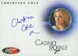 2009 James Bond Archives Autographs A129 Christina Cole