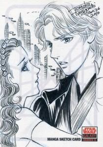 2010 Star Wars Galaxy 5 Manga Sketch Card