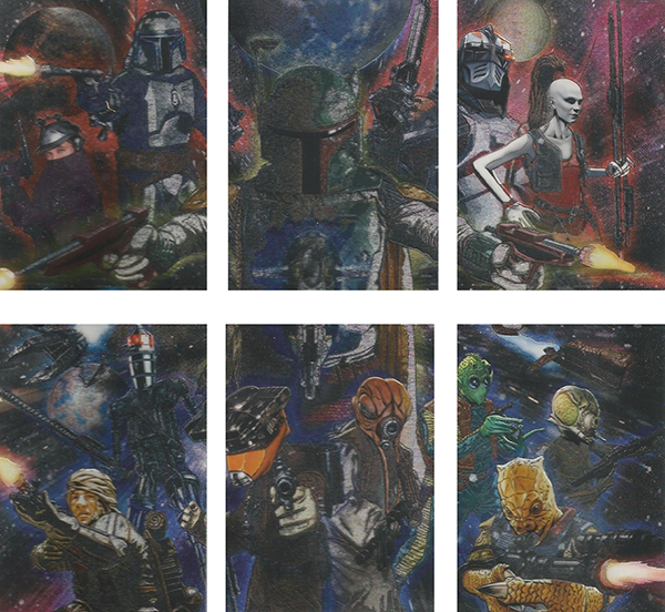 2011 Star Wars Galaxy 6 Etched Foil