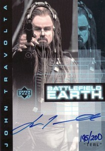 2000 Battlefield Earth Autographs John Travolta