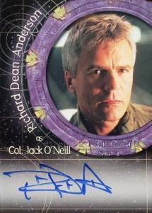 2001 Stargate SG-1 Premiere Edition Autographs A1 Richard Dean Anderson