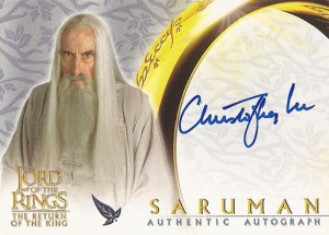 2003 Lord of the Rings Return of the King Autographs Christopher Lee