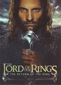 2003 Lord of the Rings Return of the King Foil Box Topper
