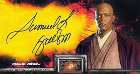 2005 Star Wars Revenge of the Sith Widevision Autographs Samuel L Jackson