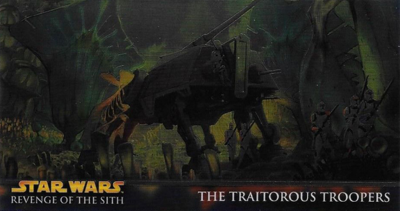2005 Star Wars Revenge of the Sith Widevision Chrome Art Hobby