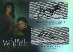 2009 Ghost Whisperer Seasons 1 and 2 Dual Autograph GCI1 Jennifer Love Hewitt David Conrad
