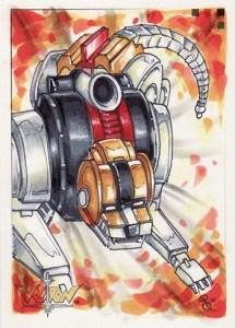 2009 Voltron Sketch Cards Rhiannon Owens