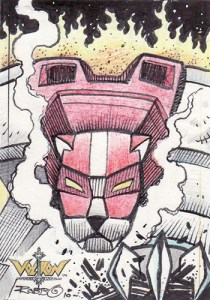 2009 Voltron Sketch Cards Robin Thompson
