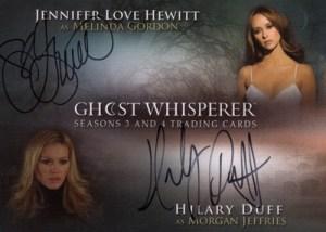 2010 GhostWhisperer Seasons 3 and 4 SDCC Autograph Hewitt Duff