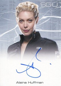 2011 Stargate Universe Season 2 Autographs FB Alaina Huffman