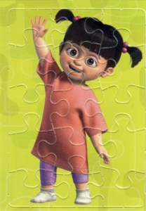 2001 Monsters Inc Jigsaw Puzzle