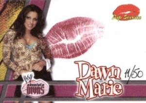 2002 Fleer WWE Absolute Divas Lip Service Dawn Marie
