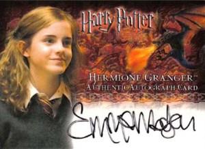 2006 Harry Potter Memorable Moments Autographs Emma Watson