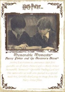 2006 Harry Potter Memorable Moments Promo Card P1