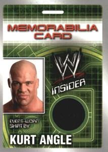 2006 Topps WWE Insider Memorabilia Kurt Angle