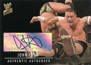 2007 Topps WWE Action Autographs John Cena