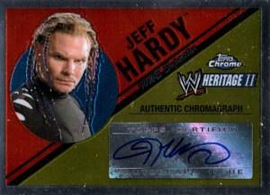 2007 Topps WWE Heritage Chrome II Autographs Jeff Hardy
