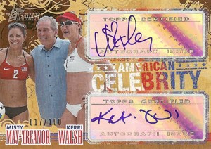 2009 Topps American Heritage Celebrity Autographs Misty May Treanor Kerri Walsh
