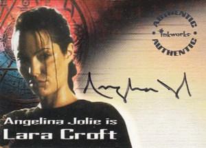 2001 Lara Croft Tomb Raider Autographs A1 Angelina Jolie