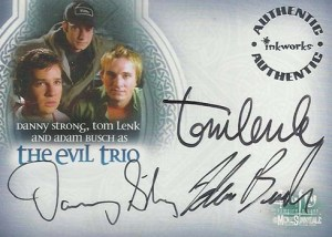 2005 Buffy the Vampire Slayer Men of Sunnydale Autographs A11 Evil Trio