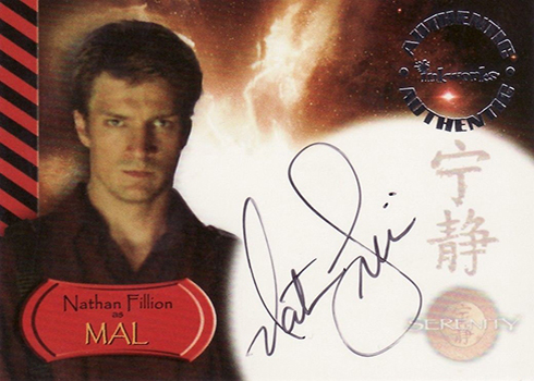 2005 Inkworks Serenity Autographs Nathan Fillion as Captain Mal