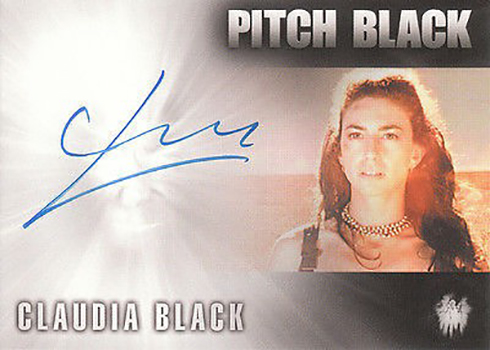 2004 Chronicles of Riddick Autographs Claudia Black Pitch Black