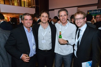 Francesc at the 2012 Forex Magnates Summit with Gal Ron (ConversionPros), Michael Greenberg (Forex Magnates), and Ran Strauss (Leverate)