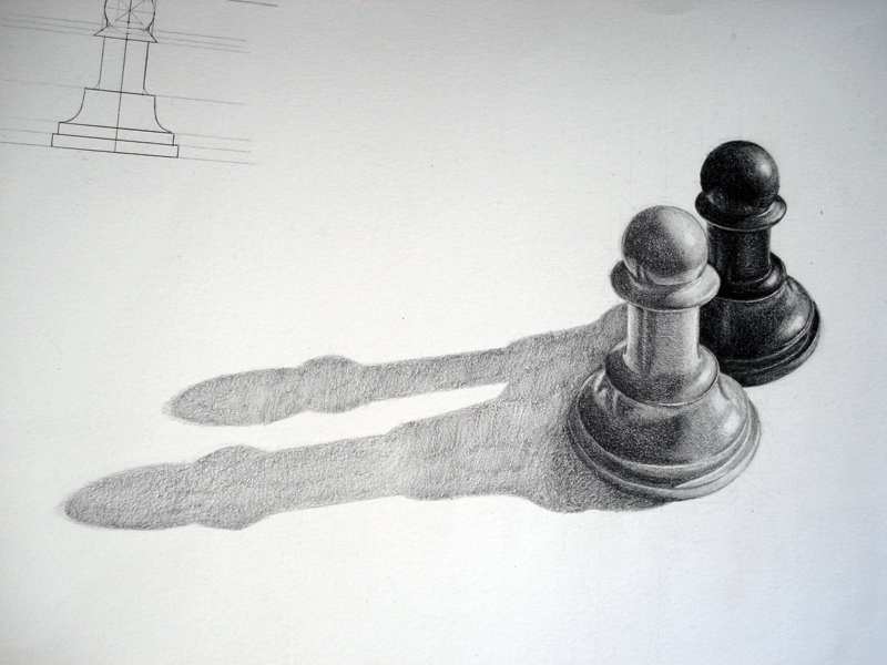 """More of the same, does not change the game."" José Ricaurte Jaén - Senior Associate Editor Artist: Boriana D. - Pencil/Chess Pawn"