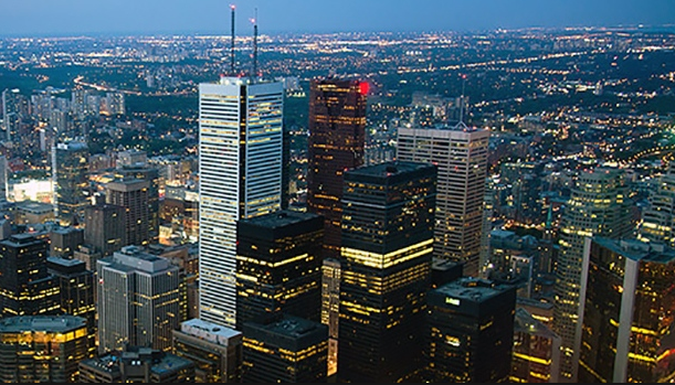 Toronto, Canada, Financial Skyline