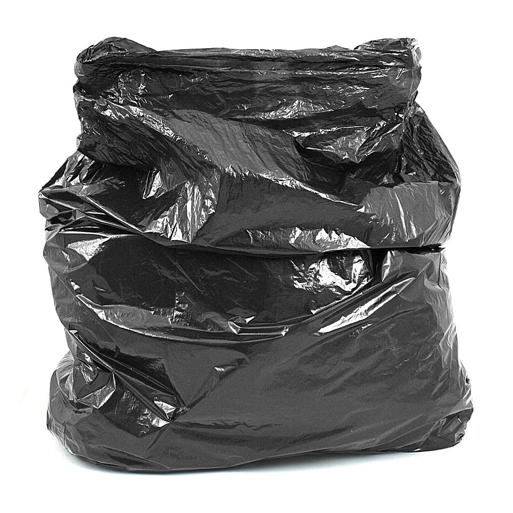 Strong Black Refuse Sack Bin Bags Boxed Per 200  Refuse