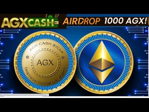 🚀Airdrop AGXcash 1000 AGX para todos participantes apenas tarefas sociais distribuicao 30 de julho