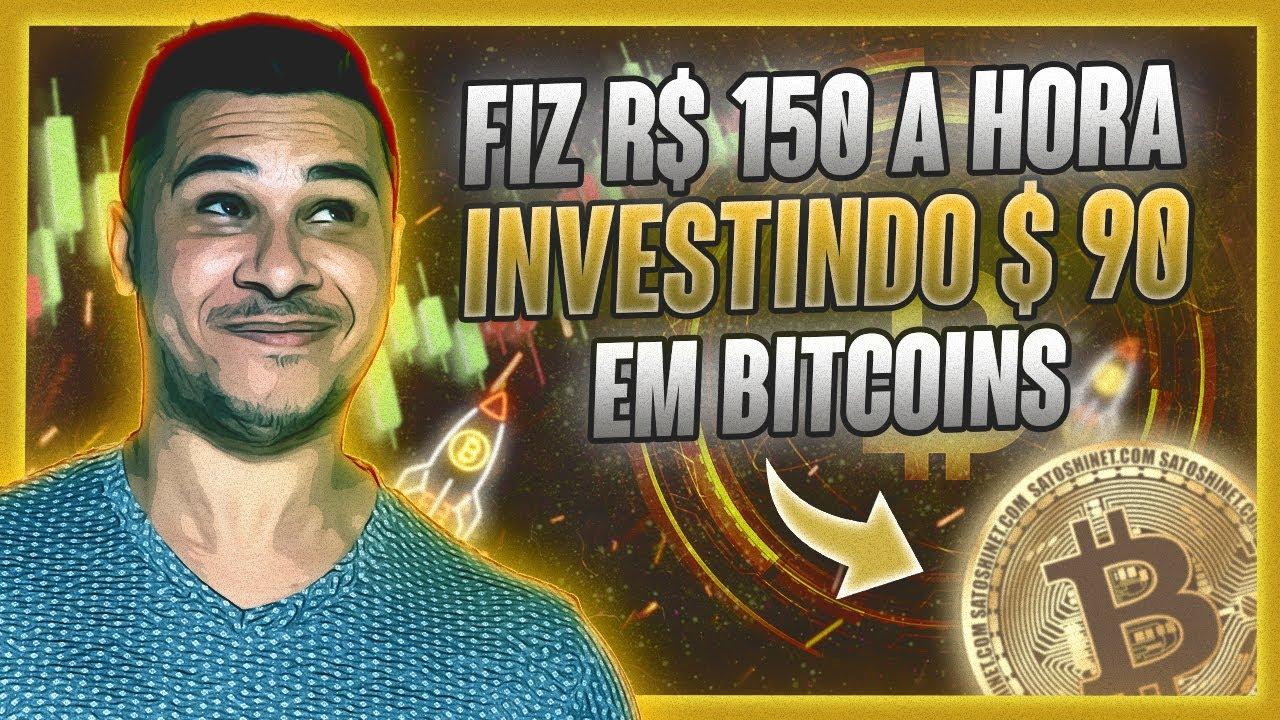 Fiz R$ 150 reais a hora Investindo $90 em BITCOINS (Como ganhar dinheiro com bitcoin 2021)