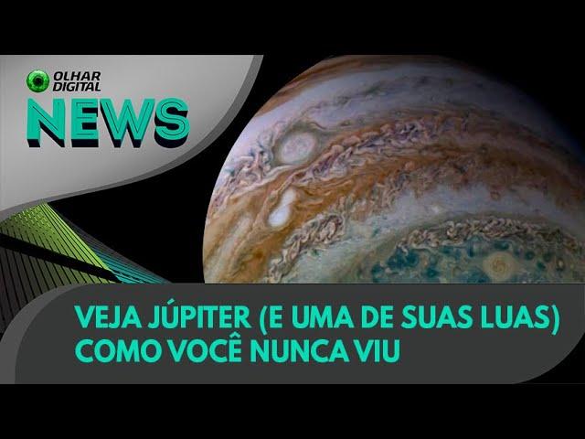 Ao Vivo   Veja Júpiter (e uma de suas luas) como você nunca viu   15/07/2021   #OlharDigital
