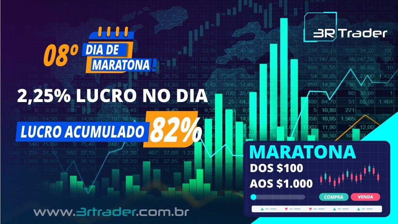 Resultado 8º Dia da Maratona  2,25% e acumulamos 82% da Banca