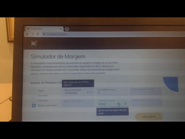 Simulador de Margem B3 Gratuito