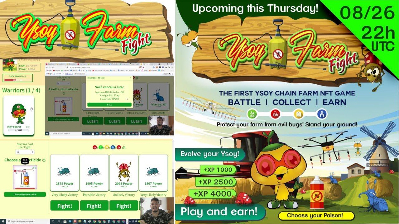 🎮NOVO Game YSOY FARM FIGTH + GIVEAWAY 1 personagem e item para jogo  listado hotbit muito promissor💲