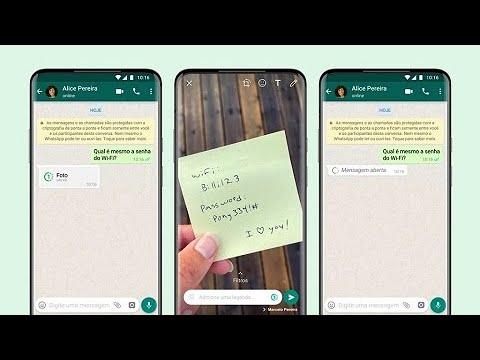 WhatsApp já permite o envio de imagens de visualização única