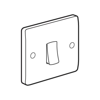 Legd 731001 Plate Switch 1G 2Way 10A Slv