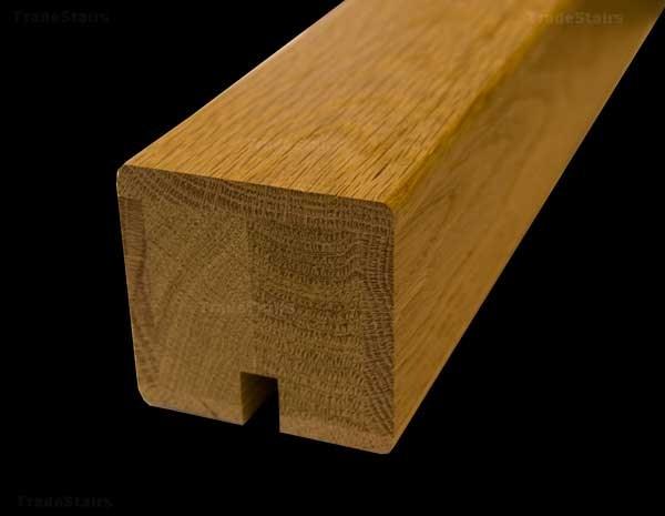 Houston White Oak Handrails Grooved For Glass | Oak Handrail For Glass | Cottage Style | Glass Railing | Red Oak | Landing | Stair Railing