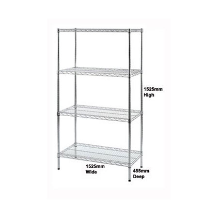Wire Shelving units 1525mm High