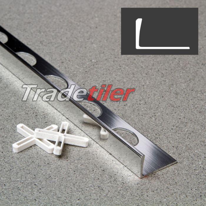 12mm straight edge aluminium tile trim chrome