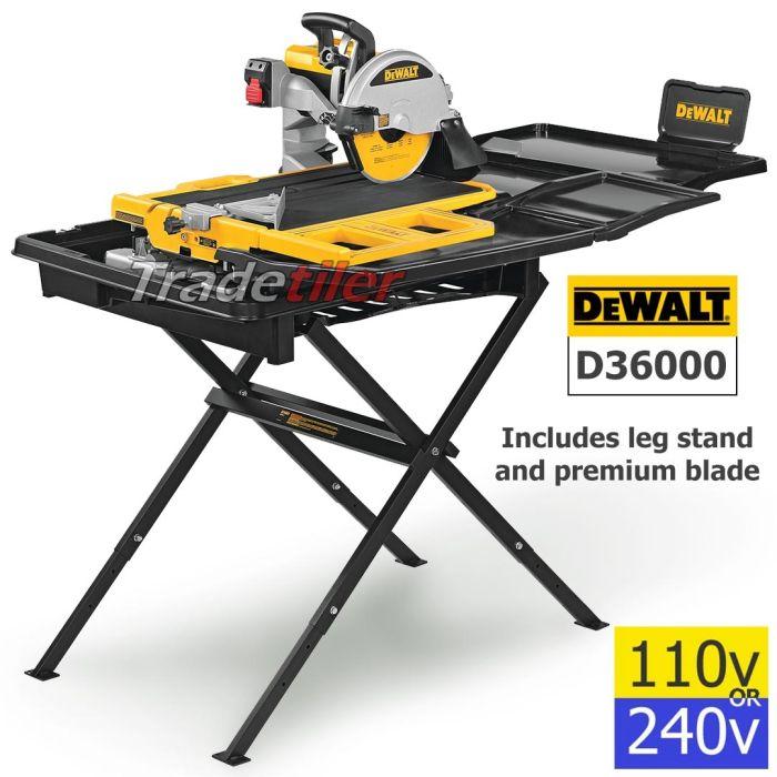 dewalt d36000 wet saw electric tile cutter inc stand select voltage