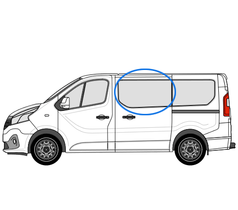 Renault Trafic X82 (2014 >) N/S/F Opening Window in
